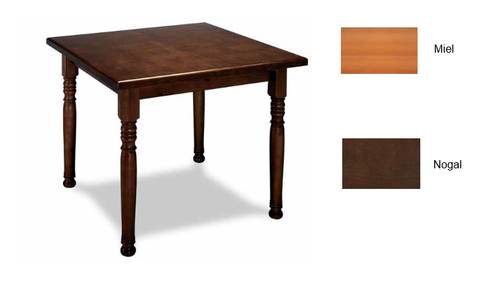 mesa de madera contract 70x70 cm