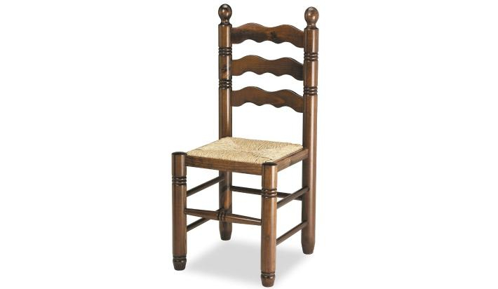 Silla hosteleria de madera con asiento enea - Sillas hosteleria barcelona ...