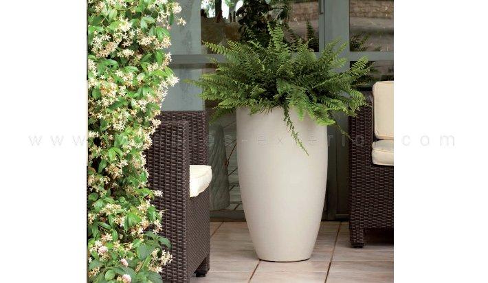 Jardinera ovalada para exterior 63x130 - Maceteros de interior ...