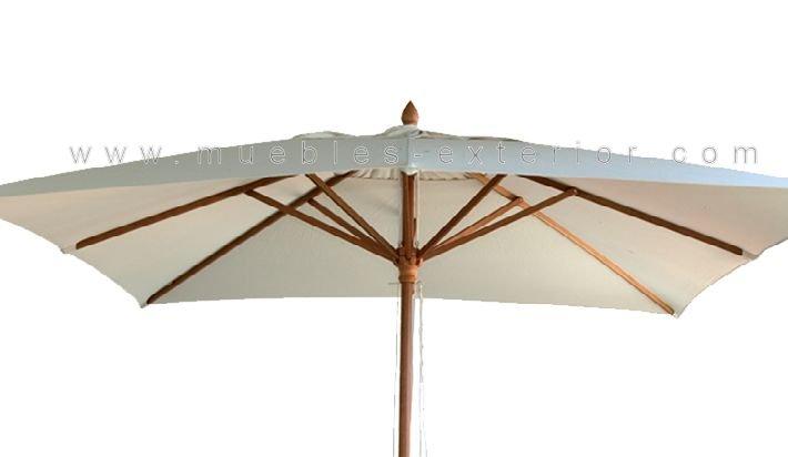 parasol madera 3x2m. Black Bedroom Furniture Sets. Home Design Ideas