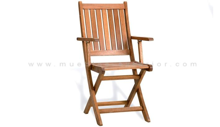 Sillon de madera exterior for Sillon terraza madera