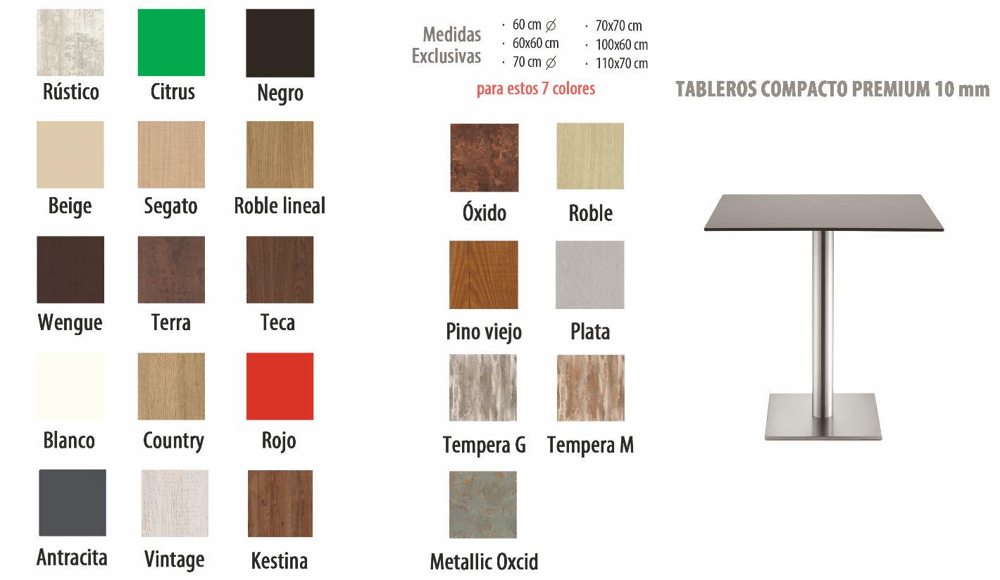 Tableros de mesa 60 x 60 cm compacto for Tableros para mesas