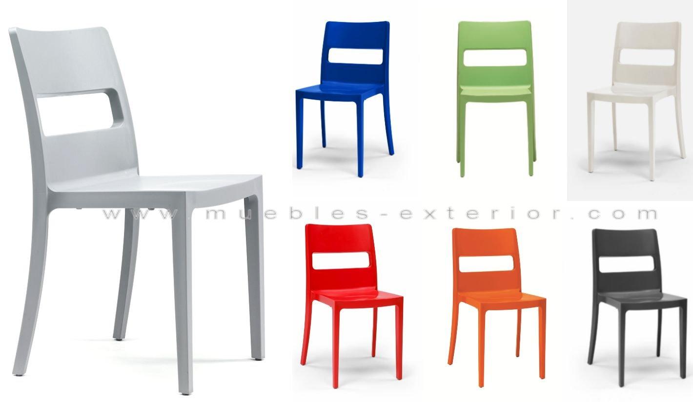 Silla plastico o polipropileno 326 - Mesas y sillas de plastico ...
