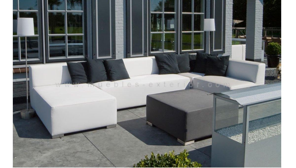 Mesa centro de jard n menorca for Conjunto de sofas para exterior