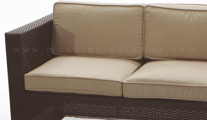 Sofa garbi 2pl for Sofa plastico exterior
