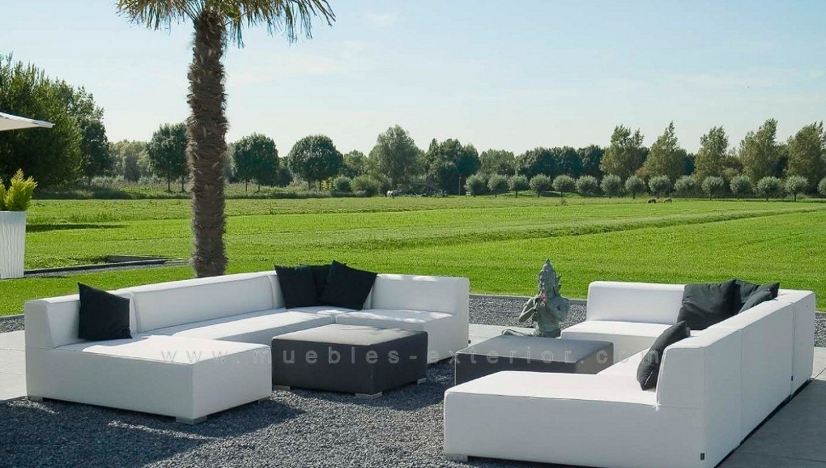 Mueble sof chillout 3 plazas for Muebles chill out exterior